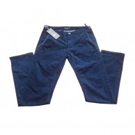 Blue Two Tone Slim Fit Stretch Pants