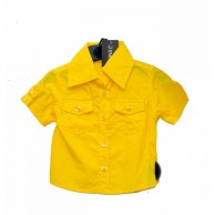 Double Sided Pocket Boys Shirt - Yellow