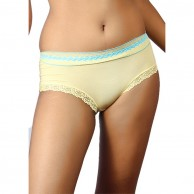 Cotton Lace Trim Brief AM494