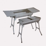 Stainless Steel Rollaway Barbecue Pit 2210