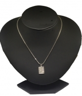Women's Chain with Square Crystal Pendant