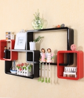 Arturo Intersecting 4 Piece Wall Shelf