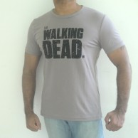 walking Dead Men's Crew-Neck T-shirts Grey
