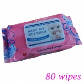 Baby Wet Wipes Pink 80 wipes