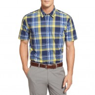 Men's Short Sleeves Check Shirt