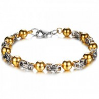Gold Loop Stainless Steel Bracelet