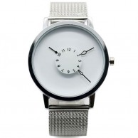 Paidu Watch Japanese Mesh Band White Dial