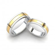 TWO TONE COUPLE RING WD - 04
