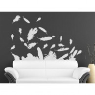 White Feathers Wall Stickers