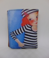 Blue And Brown Wallet For Women