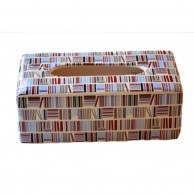 Color lines Ceramic Tissue Box