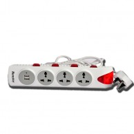 HUNTKEY Power Cord with USB Ports PZB404