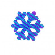 Pack Of 10 Blue And Purple Christmas Decoration Snow Flakes Stickers