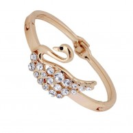 Gold Plated Alloy Fashion Bracelet Swan