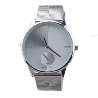 Bright Silver Wrist Watch