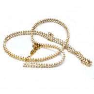 Fashion Pearl With Gold Plated Hip Chain