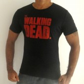 walking Dead Men's Crew-Neck T-shirts Black