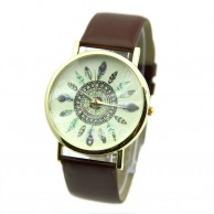Women's Multi Feathers Display Analog Wrist Watch
