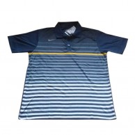 Striped Dark Blue Polo Shirt