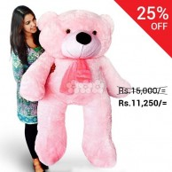 Live size Teddy Bear Pink 5 ft