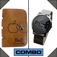 Combo of Paidu Japanese Watch and D and C Leather Wallet