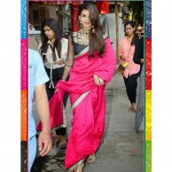 Bollywood Jacqueline Pink Saree SR1477