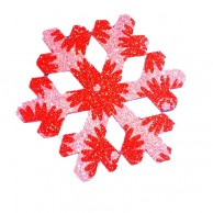 Pack Of 10 Red And Pink Christmas Decoration Snow Flakes Stickers