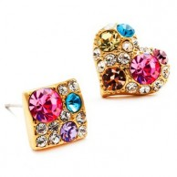 1 Pair of Crystal Rhinestone Earrings Fashion Jewellery E 003