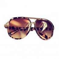 Leopard Sunglasses Mirror Fashion Style Shades Women
