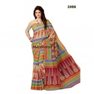 Branded Printed Cotton Saree 3096