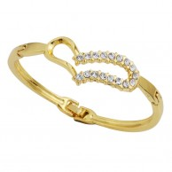 Gold Crystal Fashion Bracelet Heart