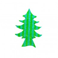 Pack Of 10 Green Striped Christmas Decoration Tree Stickers