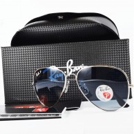 Ray Ban Aviator 100% Polarized Silver Metal Frame Sunglass MS008