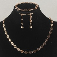 Fashion 18k Gold Filled Necklace Bracelet Jewelry Set SH1502