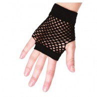 Short Fingerless Fishnet Gloves BB374