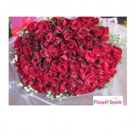 100 Red Roses Bunch RM010