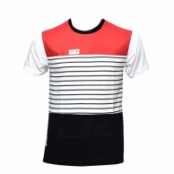 Light red and black color cotton T shirt