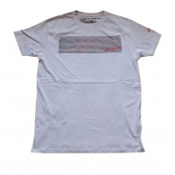 Asics White Printed  T Shirt