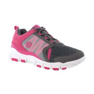 Hi Tec FLYAWAY Women's Running Trainer Shoe Charcoal And Carnation Pink
