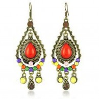 Women's Elegant Bronze Bohemian Style Earrings