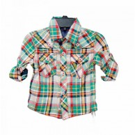 Full Sleeve Checked Design Boys Shirt