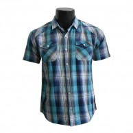 Men's Checks Shirt Dark and Light Blue CSF0114SS231
