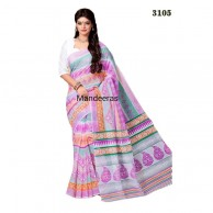 Branded Printed Cotton Saree 3105