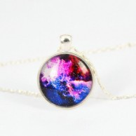 Vintage Galaxy Pendant Necklace