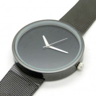 Men's Black Strap Plain Design Wrist Watch