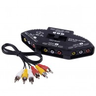 3 Way Audio Video AV RCA Switcher Selector