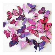 3D Magnet Pink and Purple Butterflies