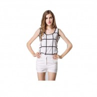 Plaid Casual Female Body Top NIS114