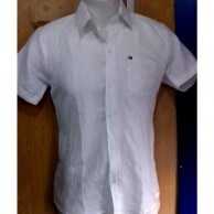 Plain White Linen Men Shirt