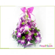 By Color Orchid with Chryshanthimum Flower Arrangement BD010
